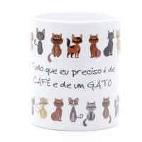Caneca Café e Gato