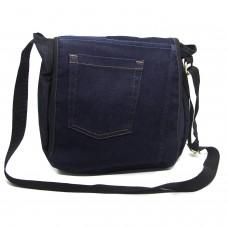 Bolsa Carteiro Jeans Escuro