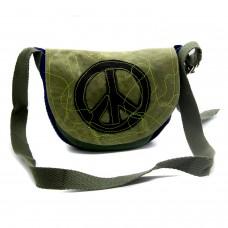 Bolsa Indie Verde Símbolo da Paz