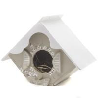Casa para Passarinho Bege e Branco