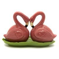 Flamingo Saleiro e Pimenteiro