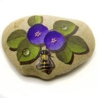 Pedra Pintada Abelha e Flor