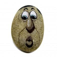 Pedra Pintada Caricatura Homem Assobiando