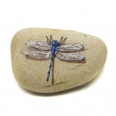 Pedra Pintada Libélula Azul