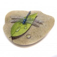 Pedra Pintada Libélula e Folha