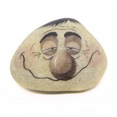 Pedra Pintada Caricatura Homem Sonolento