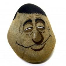 Pedra Pintada Caricatura Homem Olhar 43