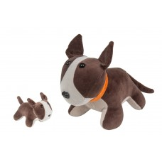 Bull Terrier com Filhote Pelúcia