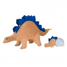 Estegossauro com ovo e filhote