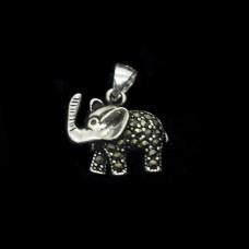 Pingente Elefante com Marcassita P
