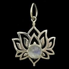 Pingente Flor de Lotus Pedra
