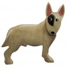 Imã Madeira Cão Bull Terrier
