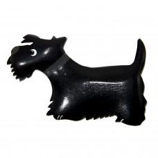 Imã Madeira Cão Terrier Preto