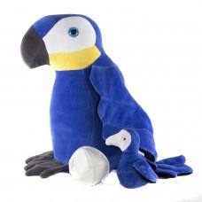 Arara Azul com Ovo e Filhote Pelúcia